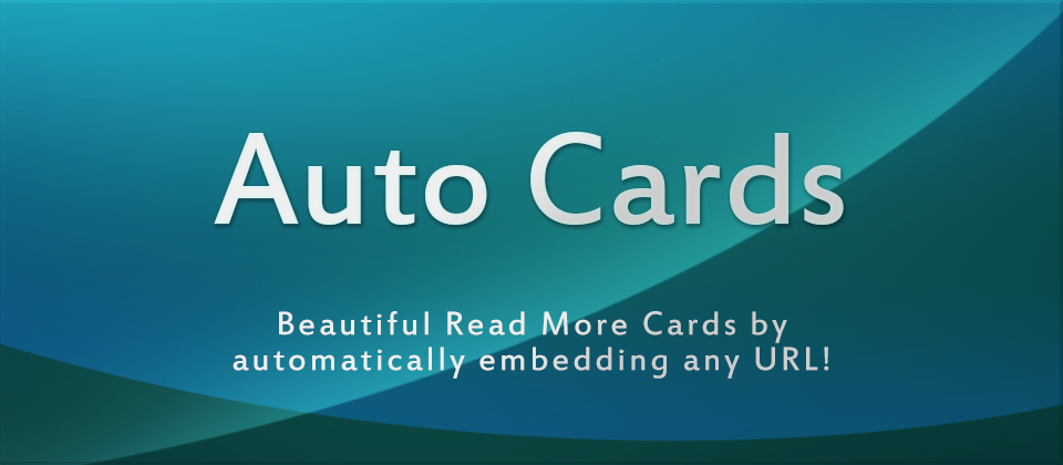 Auto Cards - URL Embedder for Joomla