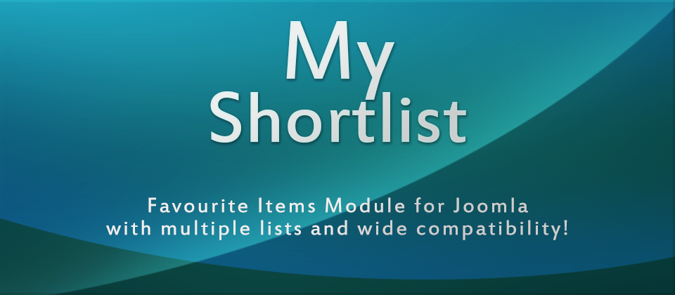 MyShortlist - Favorite Items Module for Joomla! with Multiple Lists and Wide Compatibility