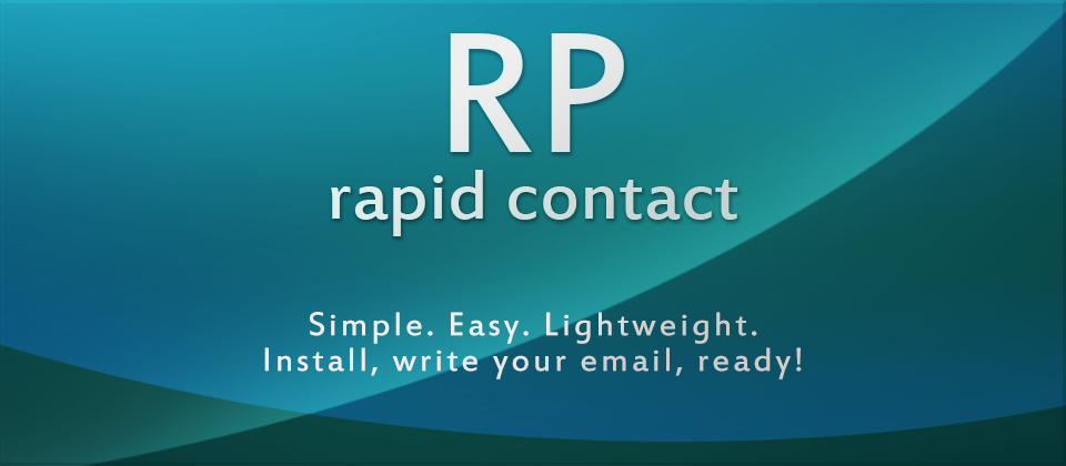 Rapid Contact- A Simple Contact Form solution for Joomla!