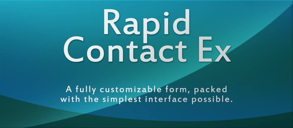 Rapid Contact Ex - A Fully Customizable Contact Form Generator for Joomla! CMS