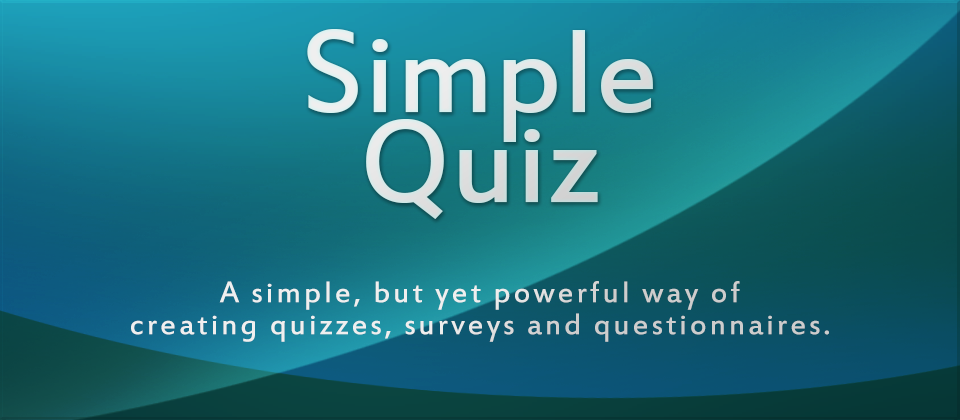 SimpleQuiz - A simple but yet powerful way of creating quizzes, surveys and questionnaires for Joomla!